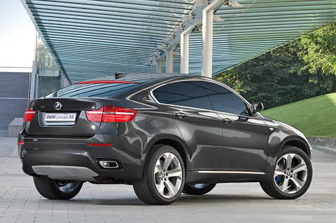 new BMW X6 back