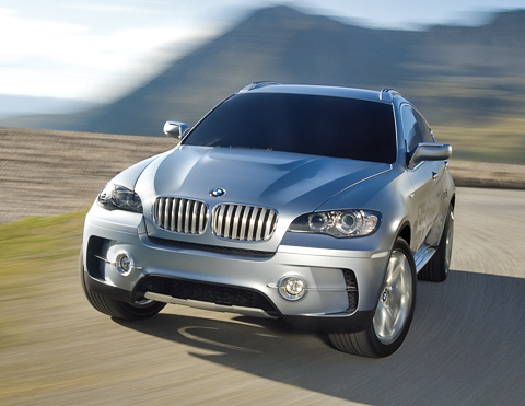 new BMW x6 in motion